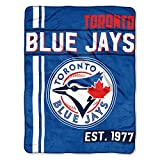The Northwest Company MLB Toronto Blue Jays Micro Raschel Throw, One Size, Multicolor