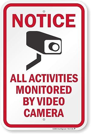 """Señal de seguridad SmartSign, leyenda """"aviso: todas las actividades supervisadas por cámara"""