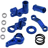 Hobbypark Aluminum Steering Bellcranks and Servo Saver Set w/Bearings for Traxxas 1/10 Slash 4x4 Hop-Up Upgrade Parts…
