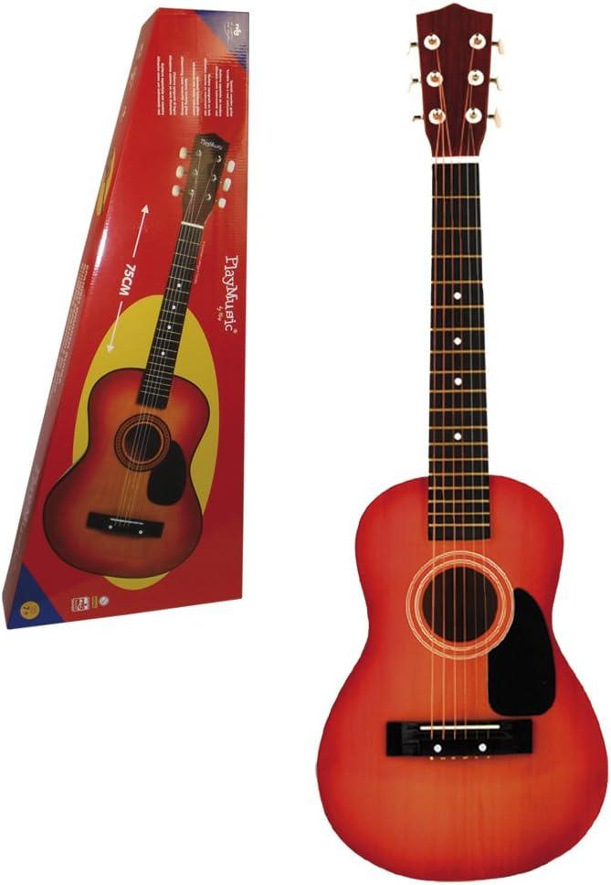 REIG- Guitarra española Madera 75 cm, Color oscurecida (REIG7062)
