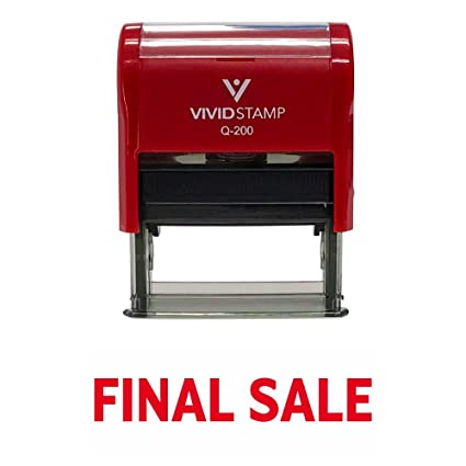 Basic FINAL SALE Self Inking Rubber Stamp Red Ink Medium