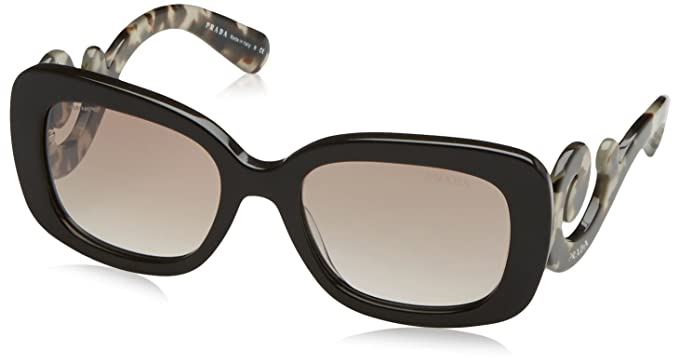 Amazon.com: Prada mujer spr270 anteojos de sol, Marrón: Clothing