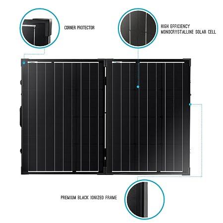 Renogy 12 Voltio 100 W Portátil Plegable Solar Monocristalino Panel Solar con Maleta: Amazon.es: Jardín