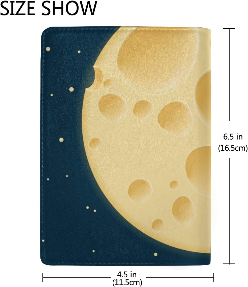 Passport Case Leather Yellow Delicious Cheese Stylish Pu Leather Travel Accessories Passport Hard Cover For Women Men