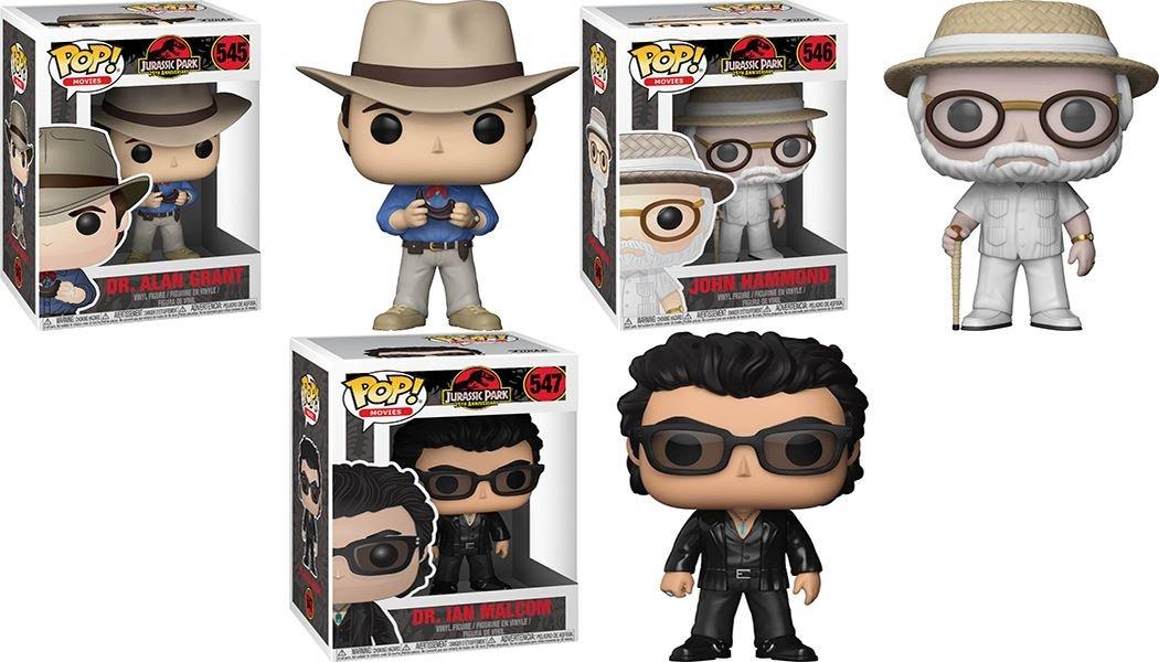 Funko POP Jurassic Park: Dr Alan Grant + John Hammond + Dr Ian Malcolm Set NEW