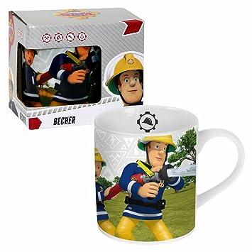 POS Taza de Cerámica Fireman Team | 200 ml | Sam El Bombero | Caja de Regalo: Amazon.es: Juguetes y juegos