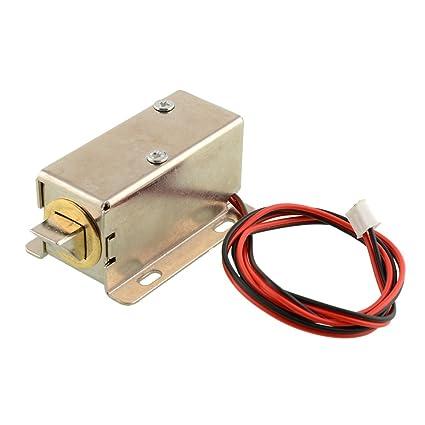 Hanbaili Mini cerradura eléctrica del perno Cerradura de la puerta del solenoide del gabinete pequeño Para
