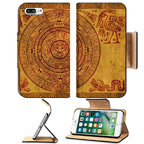 Liili Premium Apple iPhone 7 Plus Flip Pu Leather Wallet Case iPhone7 Plus Maya calendar on ancient parchment Photo 6237692 Simple Snap (This Month In History)