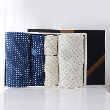 DWW Toalla de baño de algodón de Dos Piezas 2 Toalla de baño 2 Toalla Cuadrada de algodón Punto Absorbente Solo Velo Traje de Adulto (Color : B): Amazon.es: ...
