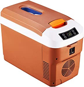 BJYX Car Freezer, Mini Fridge Portable Electric Cooler/Warmer,for Car, Home, Camping, Truck Party,Brown