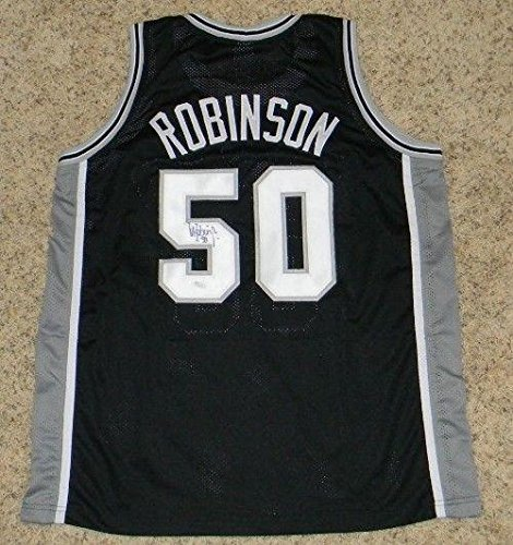 Signed David Robinson Jersey - #50 - JSA Certified - Autographed NBA Jerseys