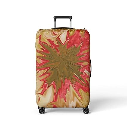 Amazon.com: Semtomn Funda de equipaje Fuschia Flores ...