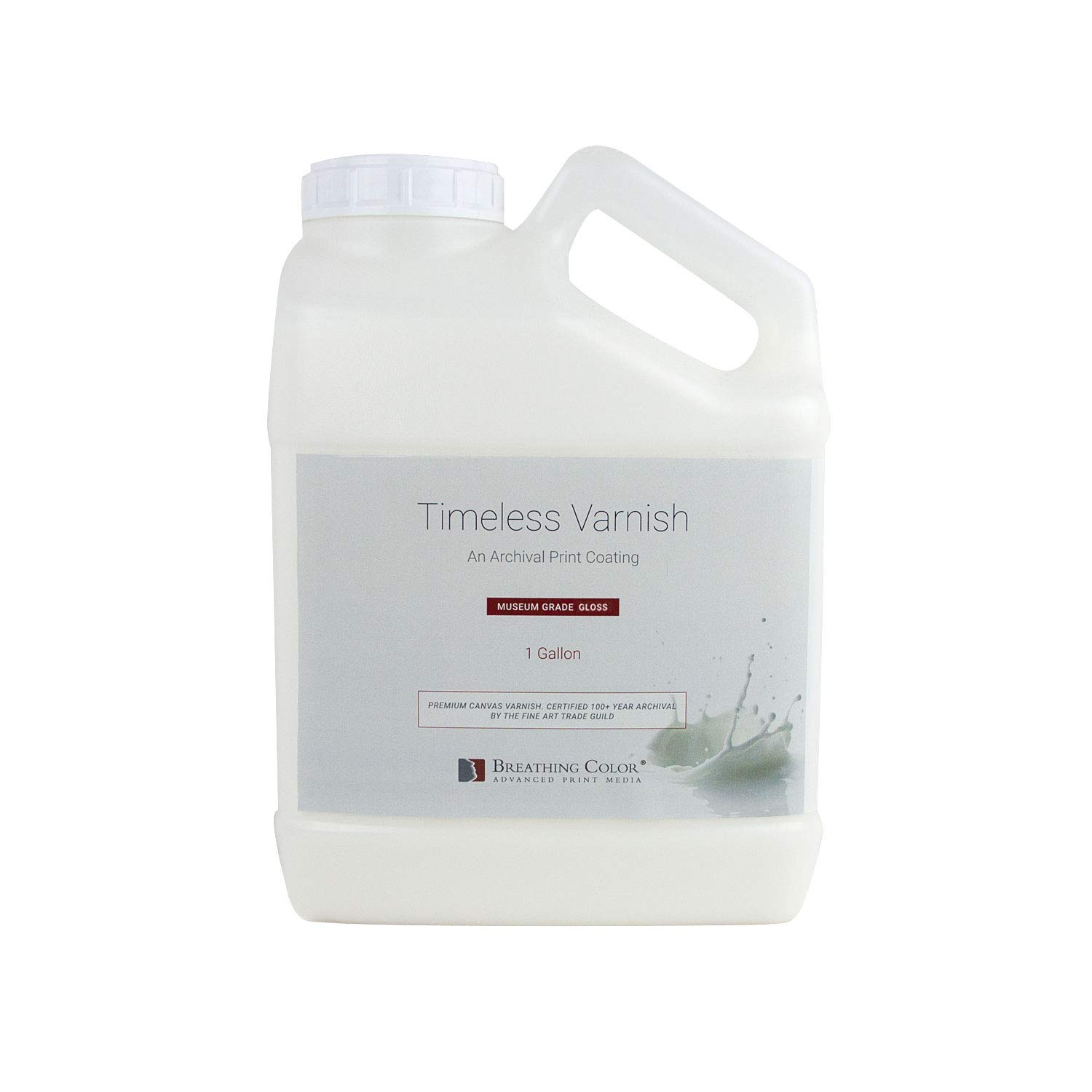 Timeless Archival Print Varnish - 1 Gallon, Glossy Finish, Highest Quality Canvas Coating, Water Based UV Protection, 100+ Years Certified Archival