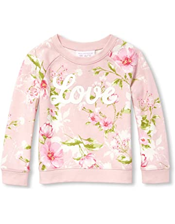 326104775cf658 The Children's Place Girls' Baby Long Sleeve Floral Printed Sweater