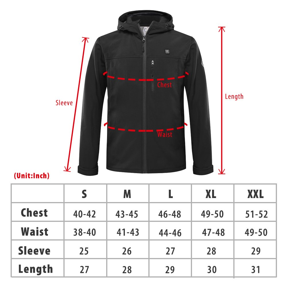 CLIMIX Men's Heated Jacket Kit with Battery Pack (L) by CLIMIX (Image #7)