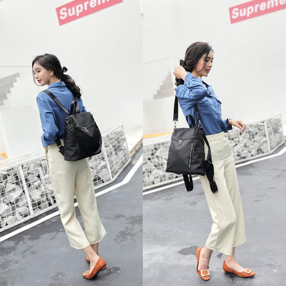 Women Backpack Purse Lightweight Fashion Canvas Ladies Handbag School Shoulder Bag Waterproof Travel Rucksack (gray) by XMeng (Image #2)