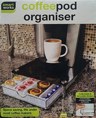 Smart Works New Stackable Coffee Pod & Capsule Drawer/Organiser With Glass Top by Smartworks