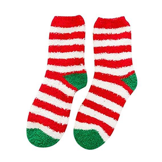 Sylar Navidad Ropa Calcetines Mujer Termicos Invierno Moda Lindo Santa Claus Elk Muñeco De Nieve Navidad Grueso Calcetines Cálido Suave Casual: Amazon.es: ...