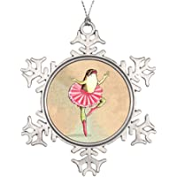 Cheyan Tree Branch Decoration Happy Dancing Ballerina Frog Make Your Own Christmas Snowflake Ornament