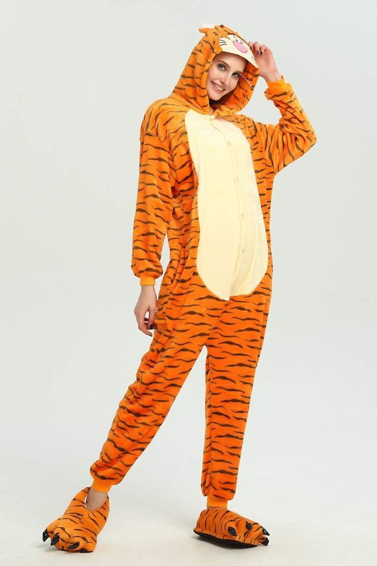 Kauson Monkey Kigurumi Flanela Unicornio Pijamas la Ropa de Noche del Traje Onesie 3D Novedad Tigre Cartoon Animal Cosplay Disfraces Mascotas Carnaval Halloween Navidad Ropa especializada para Adultos