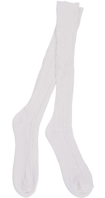 b7b9a4ca3 Amazon.com  Women s Orlon Cable Knee Sock - 3 Pair (White)  Health ...