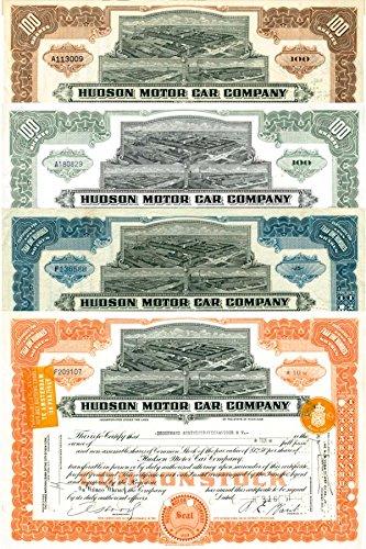 (Hudson Motor Car Company Set of 4)