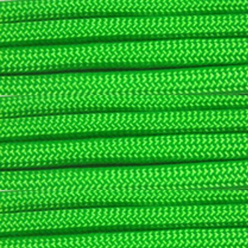 Paracord Planet Nylon 550lb Type III 7 Strand Paracord Made in the U.S.A. -Neon Green -