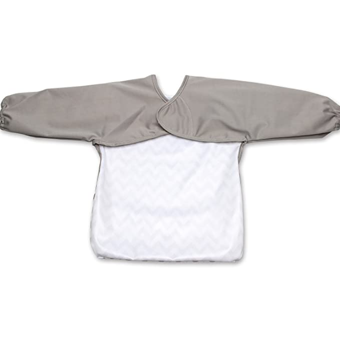 Luxja Babero Impremeable con mangas larga para bebé, Ropa ...