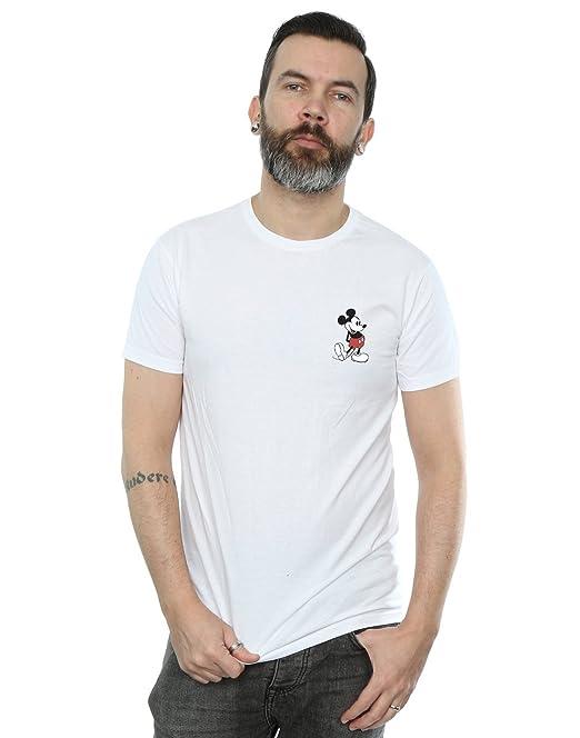 Disney Hombre Mickey Mouse Kickin Retro Pocket Camiseta dRa2V4Y
