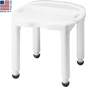 Carex Universal Bath Seat and Shower Chair - With Support Up To 400 Pounds - Adjustable Height Shower Bench