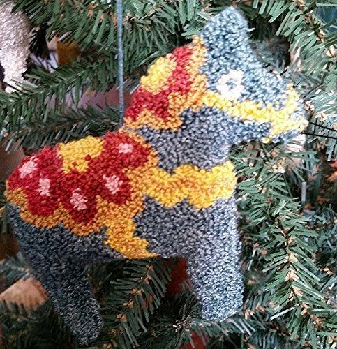 - Punch Needle Embroidery BLUE DALA HORSE