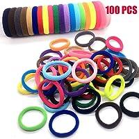 Wokee 100 Stücke Bunte Elastische Haargummis,elastische Bänder für Kleinkind Baby Kinder Elastic Band für Kopfband Haar Krawatte Haar Band Zubehör