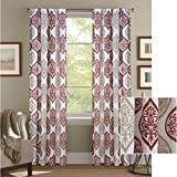 Cheap Better Homes and Gardens Damask Ogee Curtain Panel, Spice, 52″x84″