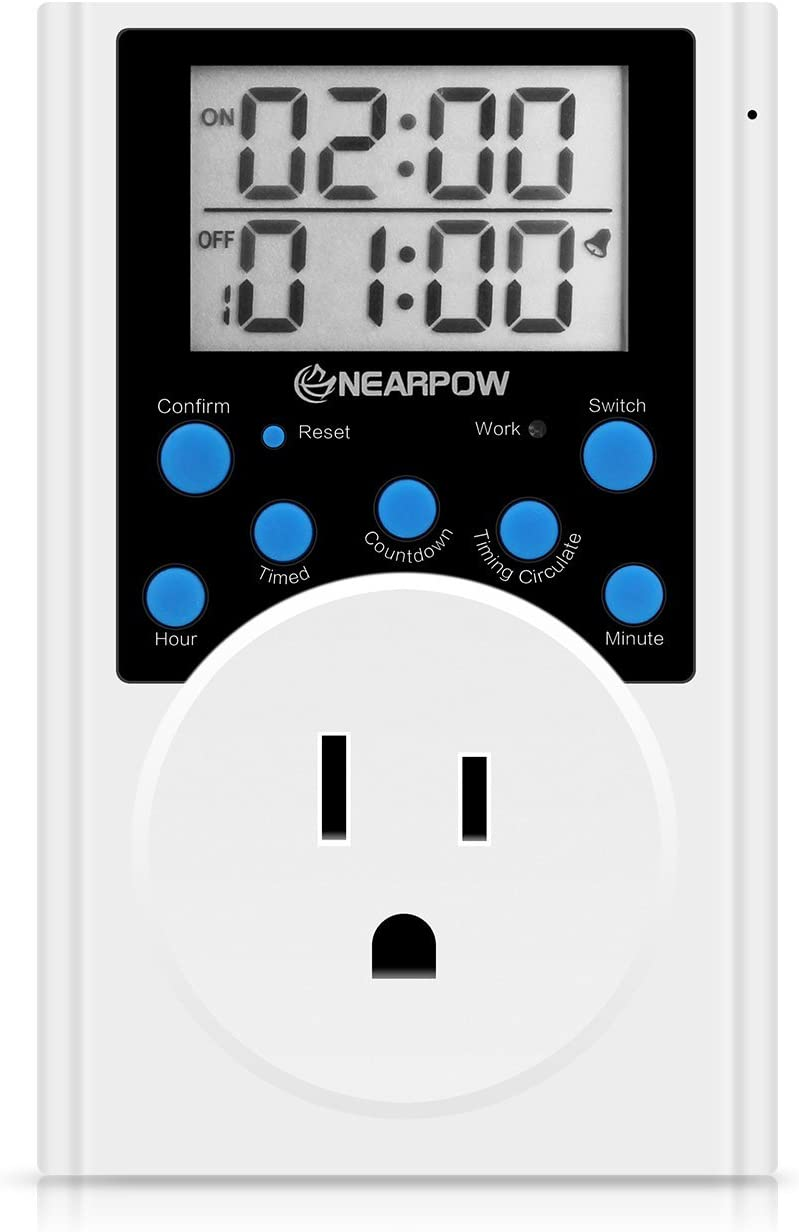 Timer Outlet Nearpow Multifunctional Infinite Cycle Programmable Plug-in Digita