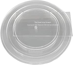 CakeSafe 1/2 Inch Round Basic Essential Kit — 2 Each of Round Disk 6-1/2 inch, 8-1/2 inch and 10-1/2 inch with 1/2 Inch Border (1/4 Inch x 2) and Center Hole, Plus 8 Inch Quad Icing Scraper