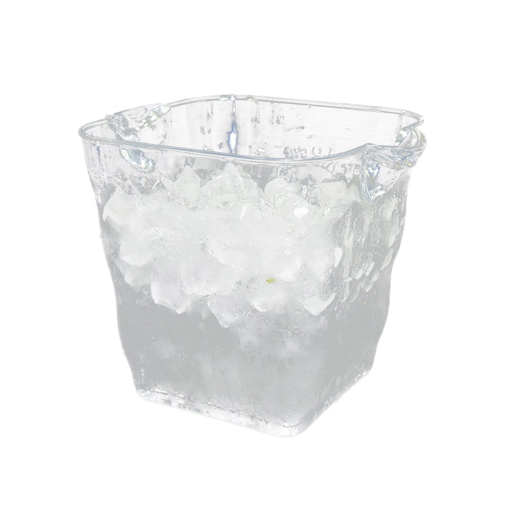 BESTONZON Ice Bucket,Square,Transparent Plastic Ice Bucket for Wine or Champagne Bottles