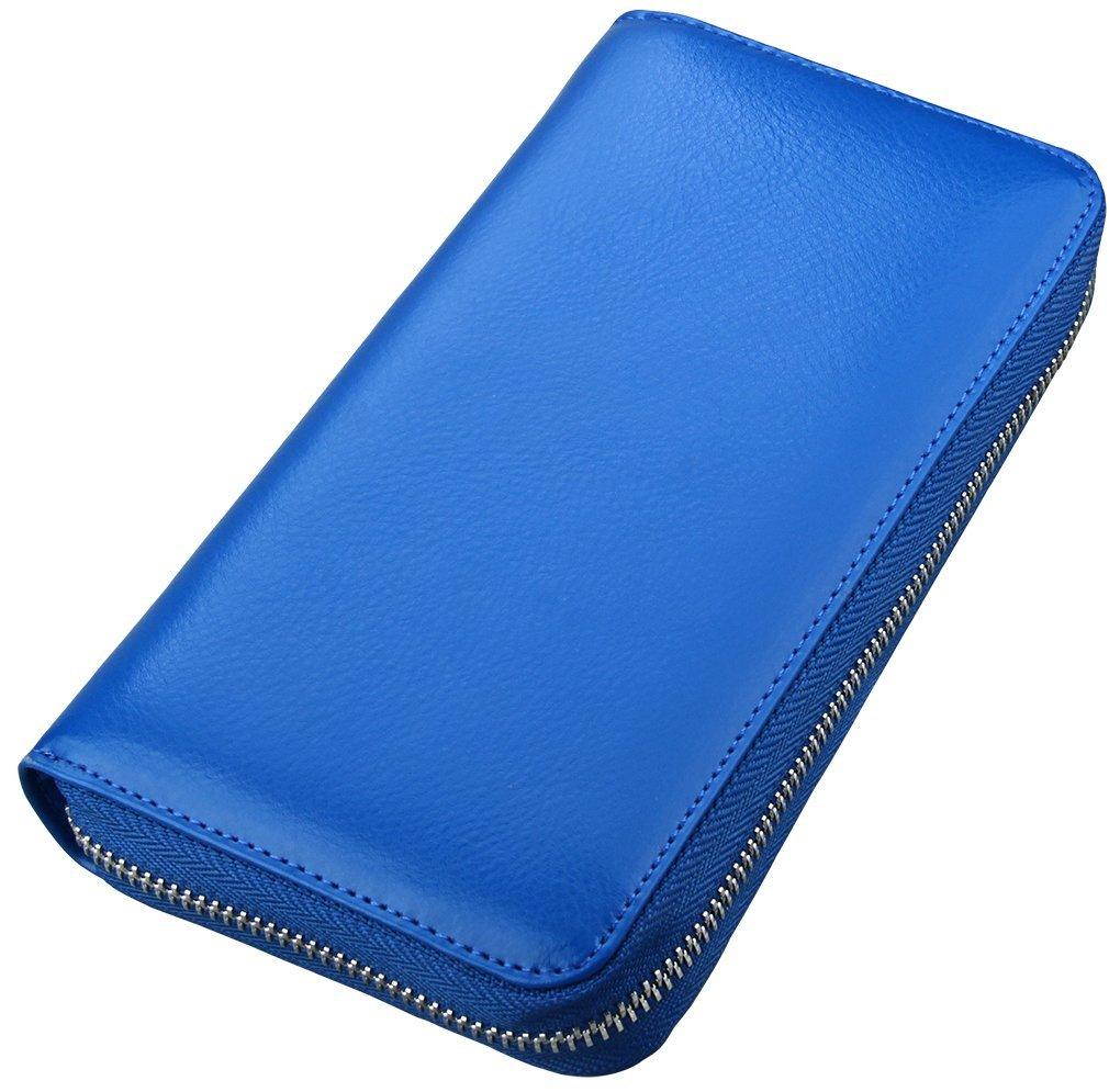 Yuhan Pretty Womens Credit Card Wallet Holder RFID Genuine Leather Zipper Purse Brown