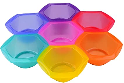 Bol para tinte, recipiente para mezclar tinte, kit de 7 colores – Tamaño grande