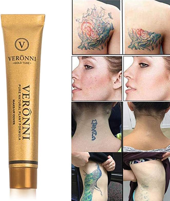 shamrock58 for VERONNI Tattoo Concealer to Cover Tattoo Scar Birthmarks Waterproof Brighten Concealer