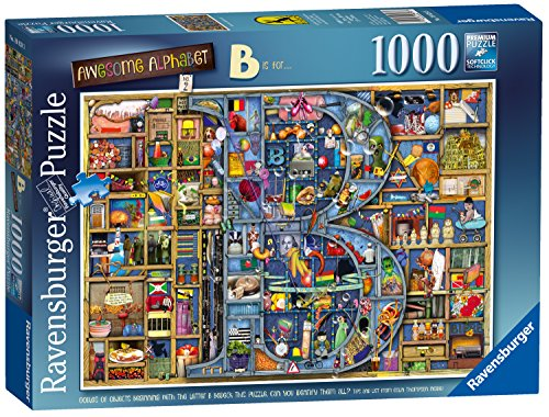 Ravensburger Colin Thompson - Awesome Alphabet B 1000 Piece Jigsaw Puzzle