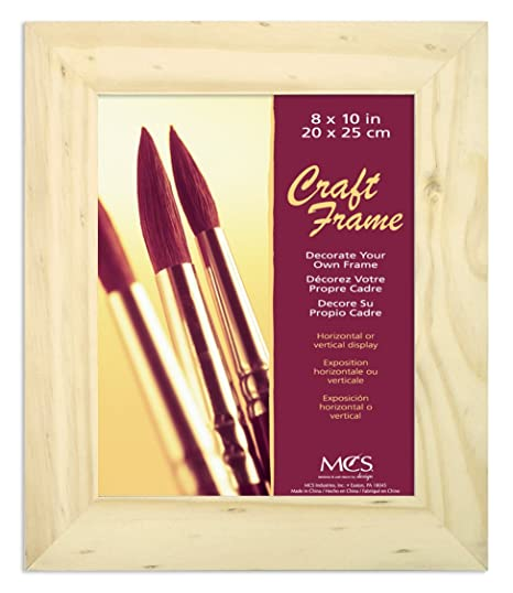 Amazoncom Mcs 8x10 Inch Unfinished Pine Craft Frame 58101 Art