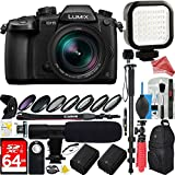 Panasonic LUMIX GH5 20.3MP 4K Mirrorless Digital Camera 12-60mm f2.8-4.0 ASPH Leica Lens - 64GB SDXC Dual Battery & Shotgun Mic Pro Video DigitalAndMore Bundle