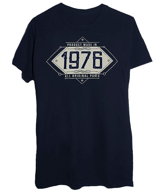 8d0b8dc63f497a T-Shirt Compleanno Prodotto nel 1976 - Solo Parti Originali: Amazon.it:  Abbigliamento