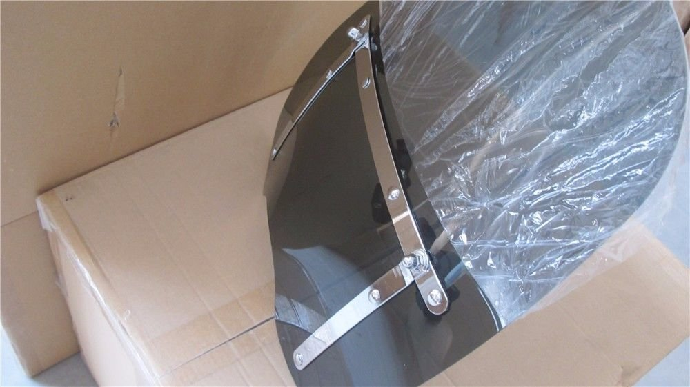 smoke Large 19x17 Windshield for Honda Kawasaki Harley Davidson Suzuki Yamaha