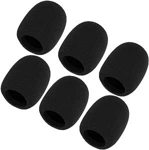 6 Pack Micphone Foam Covers Handheld Mic Windscreen Pops Filter