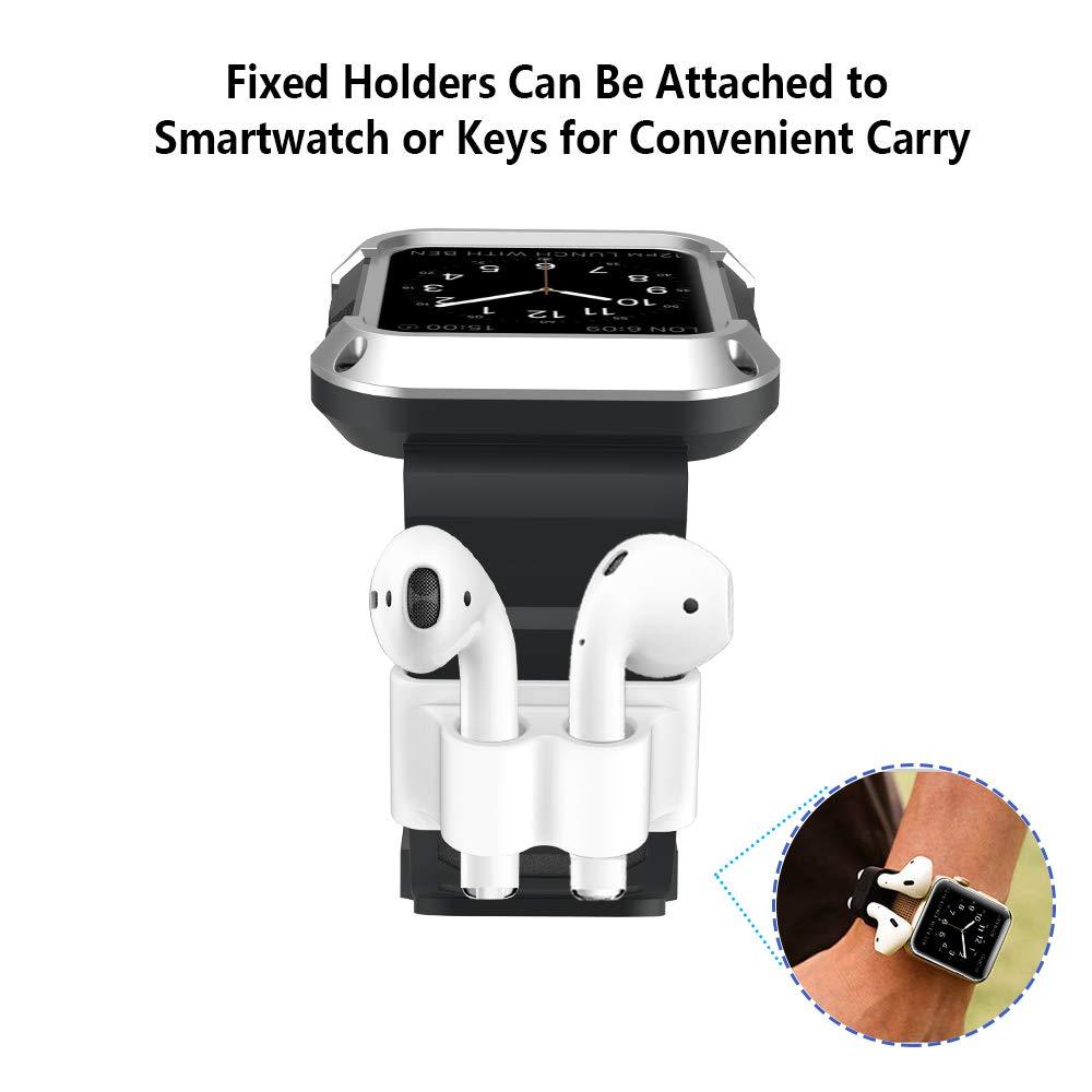 Coque Silicone Apple AirPods GeeRic /Étui Protecteur AirPods 8 in 1 AirPods 2//1 Cover Etui AirPods Accessoires Antichoc Anti-Perdu Sangle pour Apple Airpods Rosa LED Non Visible