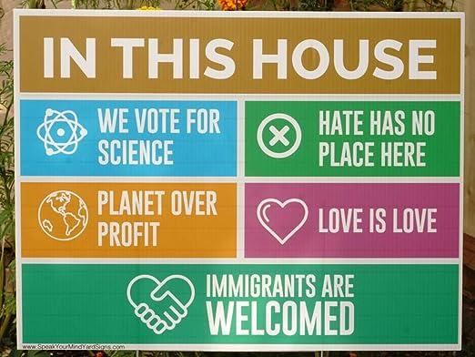 Speak Your Mind Yard Signs Cartel para Patio en Esta casa ...