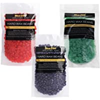 MagiDeal 3 Packs Hard Wax Beans 100g For Hair Removal For Intimate, Legs, Arms And Face Depilatory Hot Wax Hard Wax