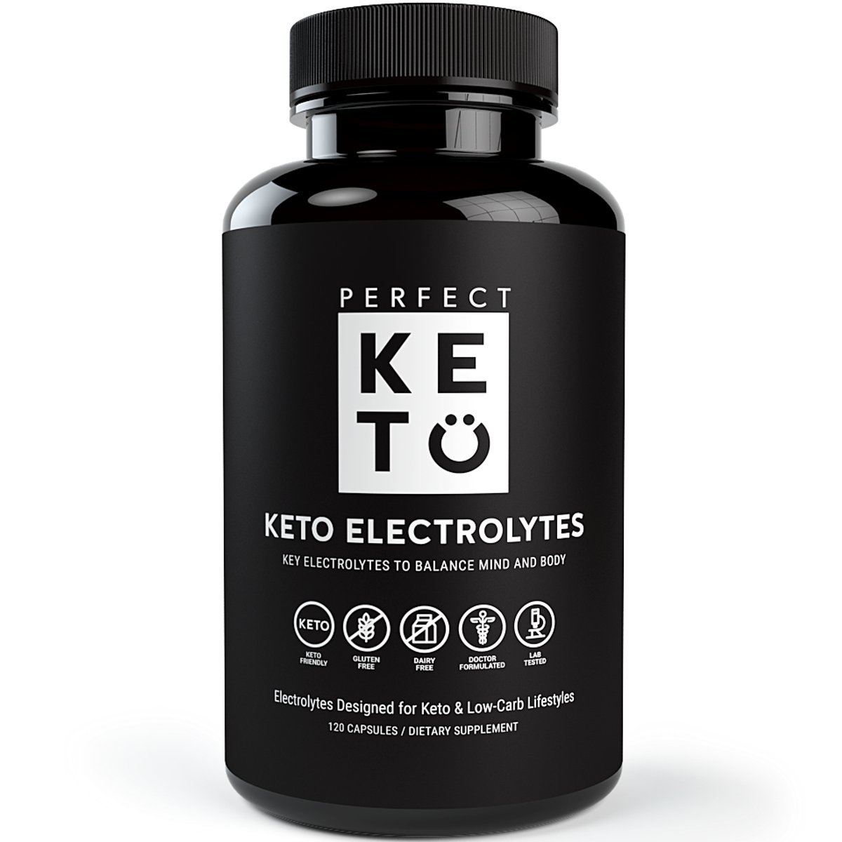 Perfect Keto Flu Electrolyte Supplement: Electrolytes Capsules for Low Carb Diet or Ketogenic Diet to Balance Mind & Body. Energy Supplements, Sodium, Potassium, Magnesium