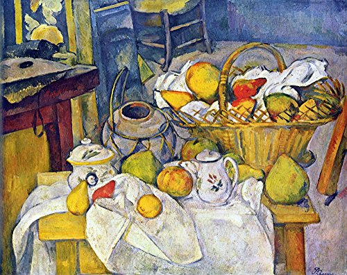 The Museum Outlet - Still Life with Fruit Basket by Cezanne - Poster (24 x 18 Inch)